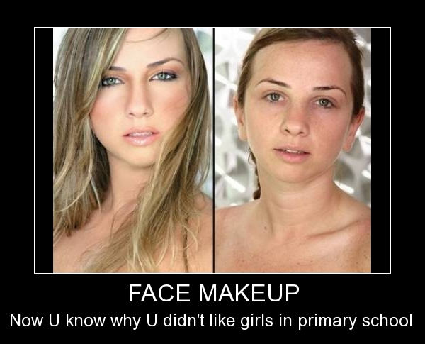 Face Makeup In School