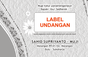 label undangan