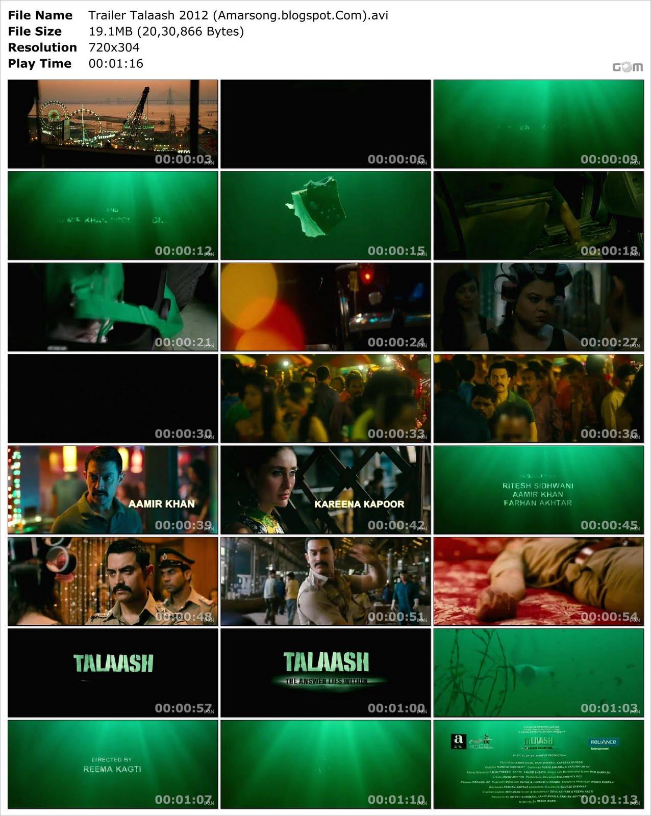 Talaash (2012) Official Trailer Download AVI Format