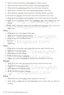 Bite An English Per Day Pmr English Essay Questions For Literature  Click The Image To Enlarge And Save As Image Then Print It Out For  Practice Or Classroom Discussion