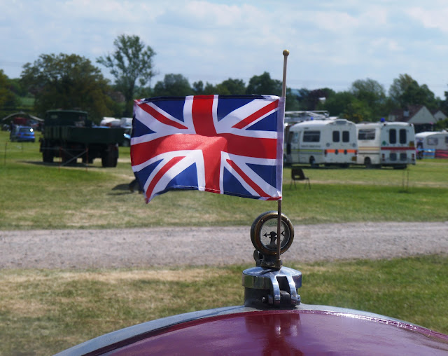 British flag on the front of a Scammell lorry