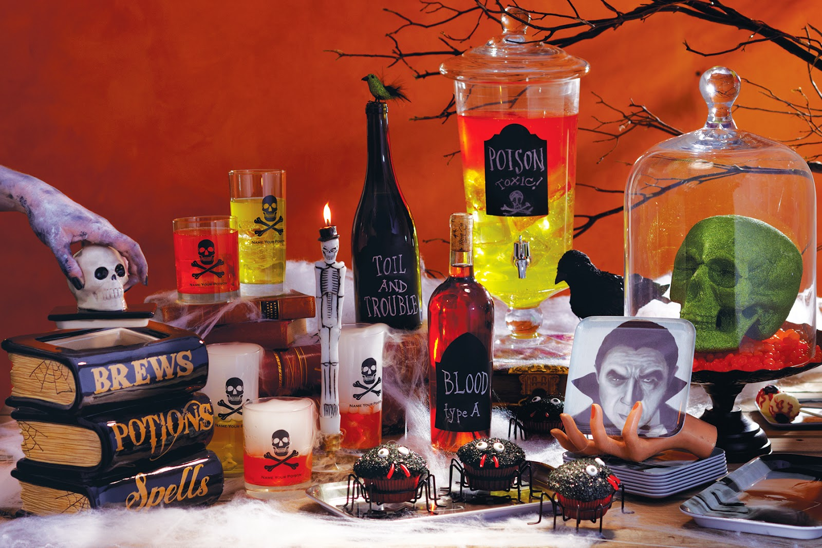 prop stylist allegra hsiao does spooky drink table