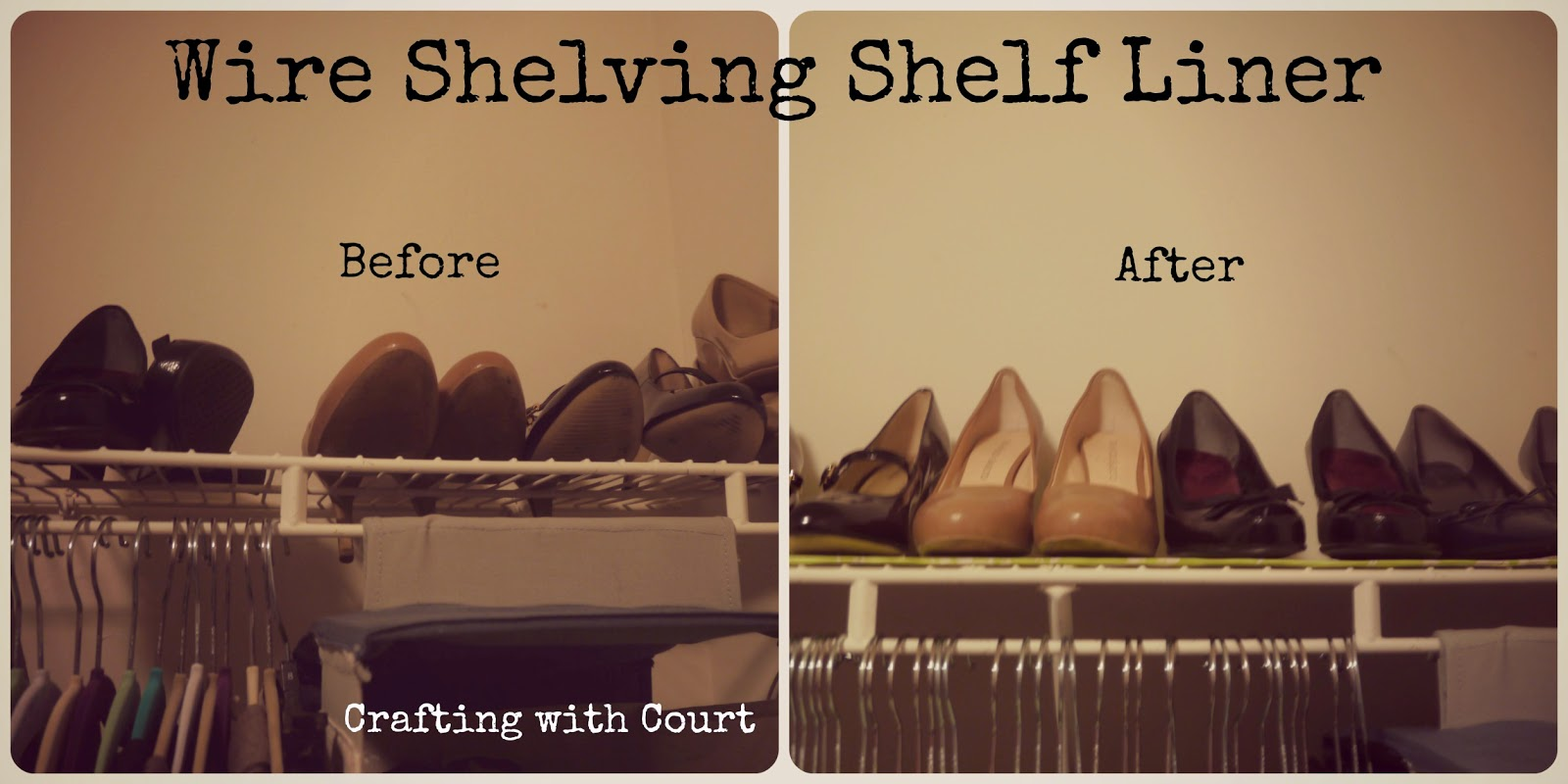 Crafting With Court Wire Shelving Shelf Liner