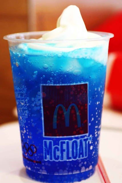 Blueberry McFloat Smurfs 2 Drink McDonald's 2013