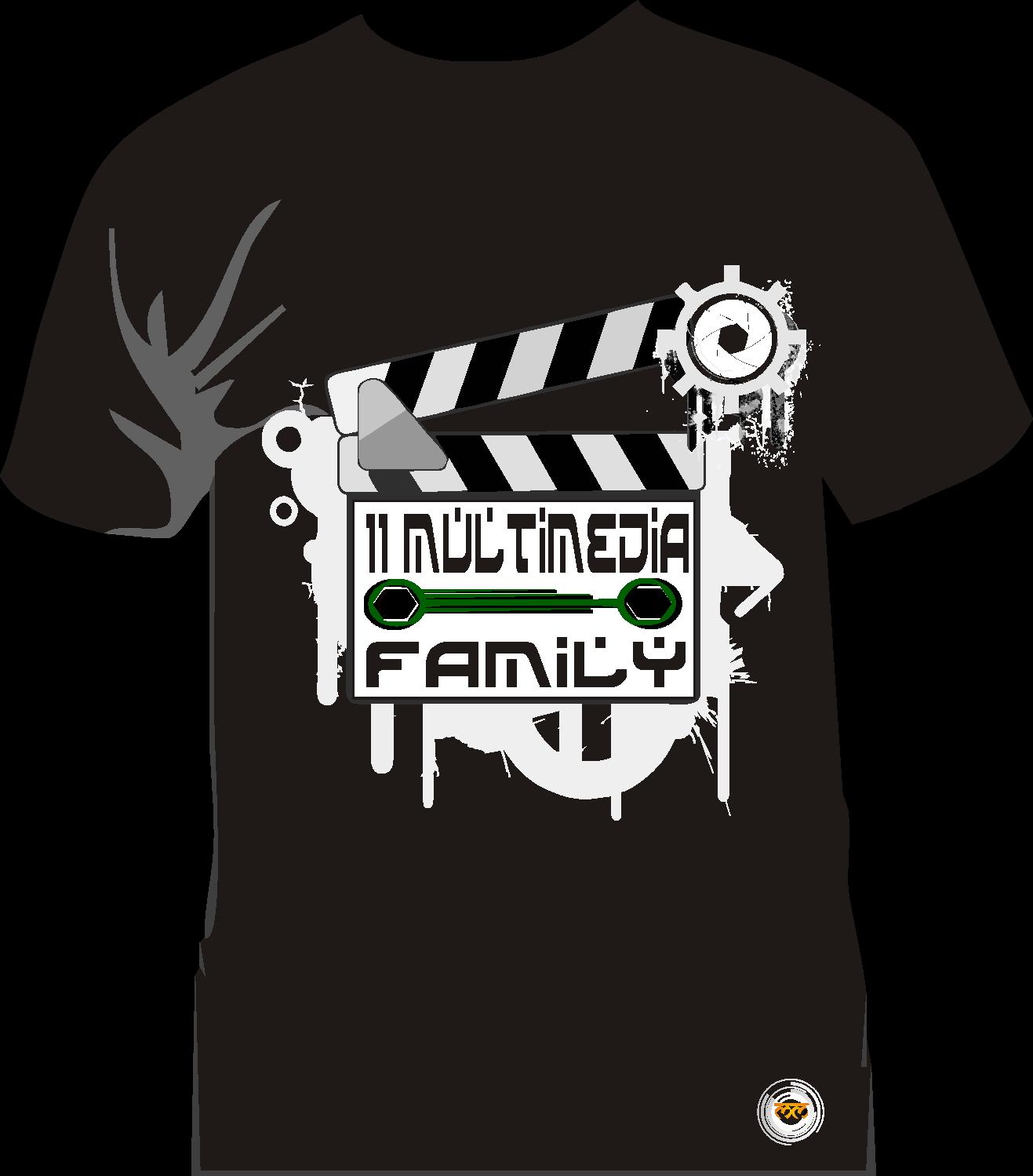 Contoh desain t shirt kelas - Design Kaos Kelas Multimedia