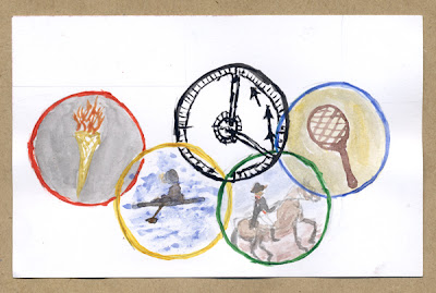 Olympic Rings by Marjorie McLean