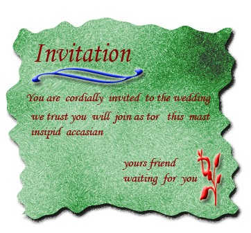 marriage invitation