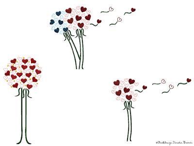 3-teilige Mutterpasshülle  Kleeblatt