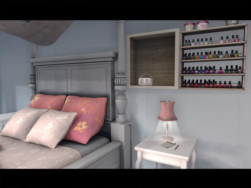 My fashionista heart lili has a home lazy sunday home edition - Trompe loeil hoofd bed ...