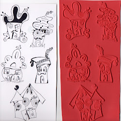 Moustachio Rubber Stamps