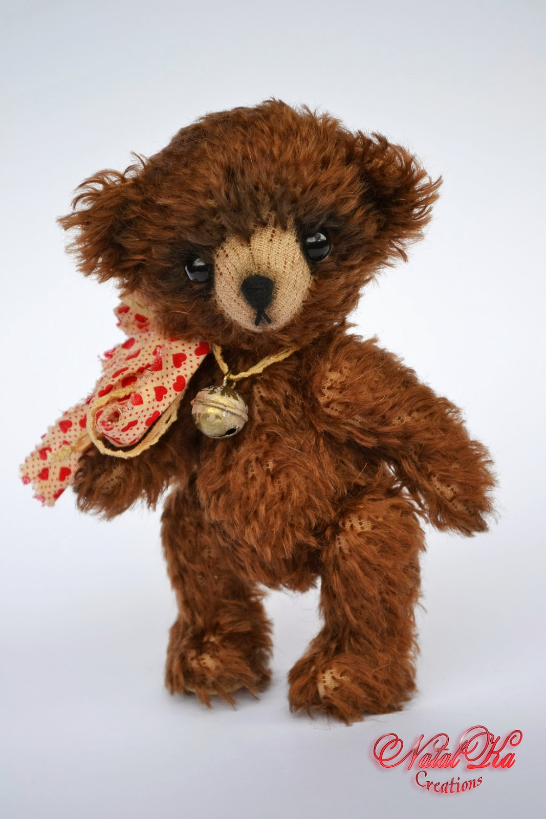 Artist teddy bear handmade by NatalKa Craetions. Авторский мишка тедди ручной работы