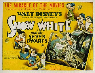 DVD cover Snow White and the Seven Dwarfs 1937 animatedfilmreviews.filminspector.com