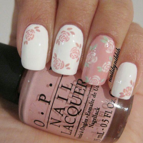 Beautiful Romantic Nails Omg Love Beauty