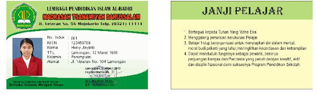 Kartu Pelajar Cdr