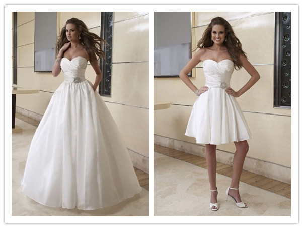 in 1 wedding dresses one dress two styles trendy fashionable