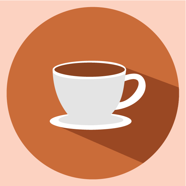 Coffee Cup Flat Icon Flat Coffee Cup Icon
