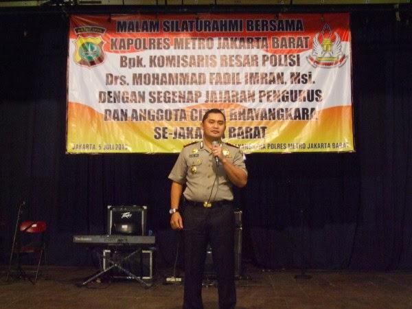 Kapolres Jakarta Barat -  Kombes Pol M.Fadil Imran, Msi