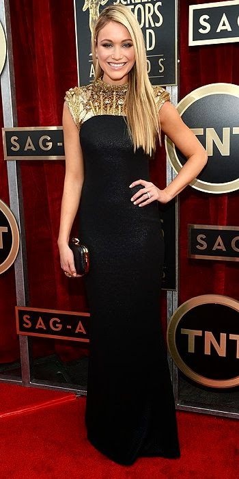 Katrina Bowden, SAG Awards, red carpet, fashion