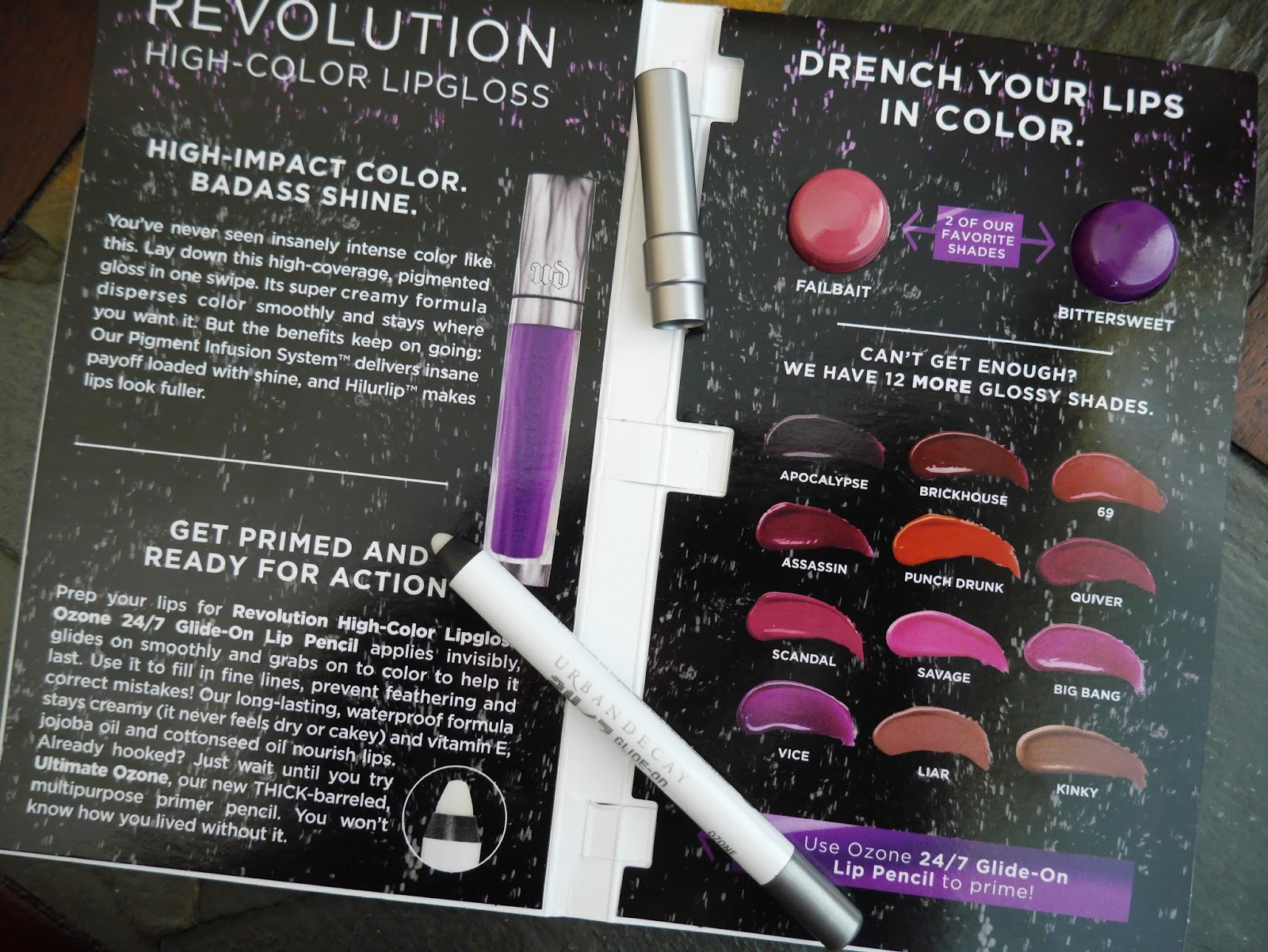 Urban Decay 24/7 Glide on Lip Pencil + BONUS Revolution High-Color Lipgloss