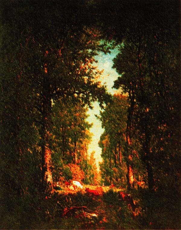 Теодор Руссо. Просека. Лес л'Илъ-Адам. 1849.