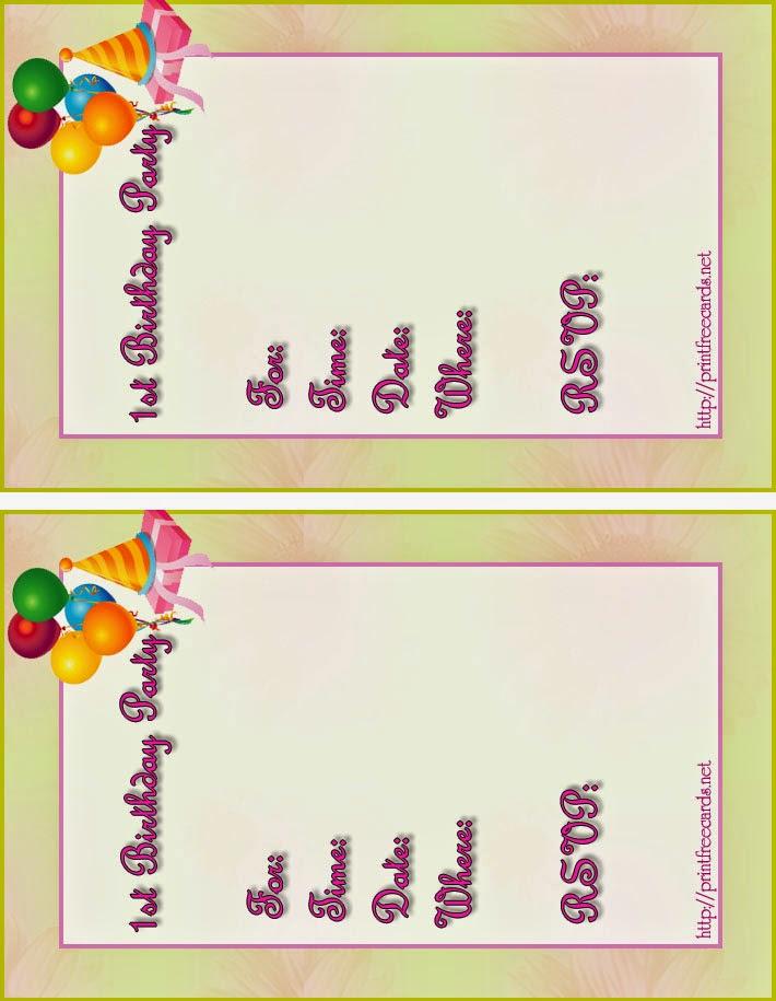 free printable cards  free printable birthday invitations