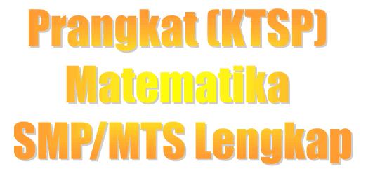 Download Perangkat Ktsp Matematika Smp Mts Lengkap Programpendidikan Com