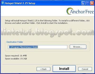 Hotspot Shield Setup Destination Folder