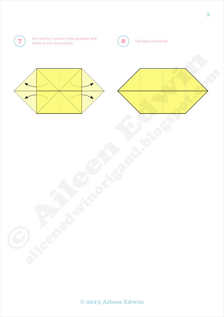 Origami boat base diagrams