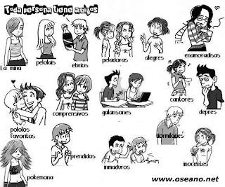 imagen para etiquetar a diferentes tipos de amigos