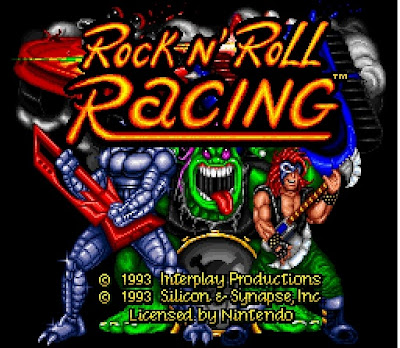 Rock n' Roll Racing Title Screen