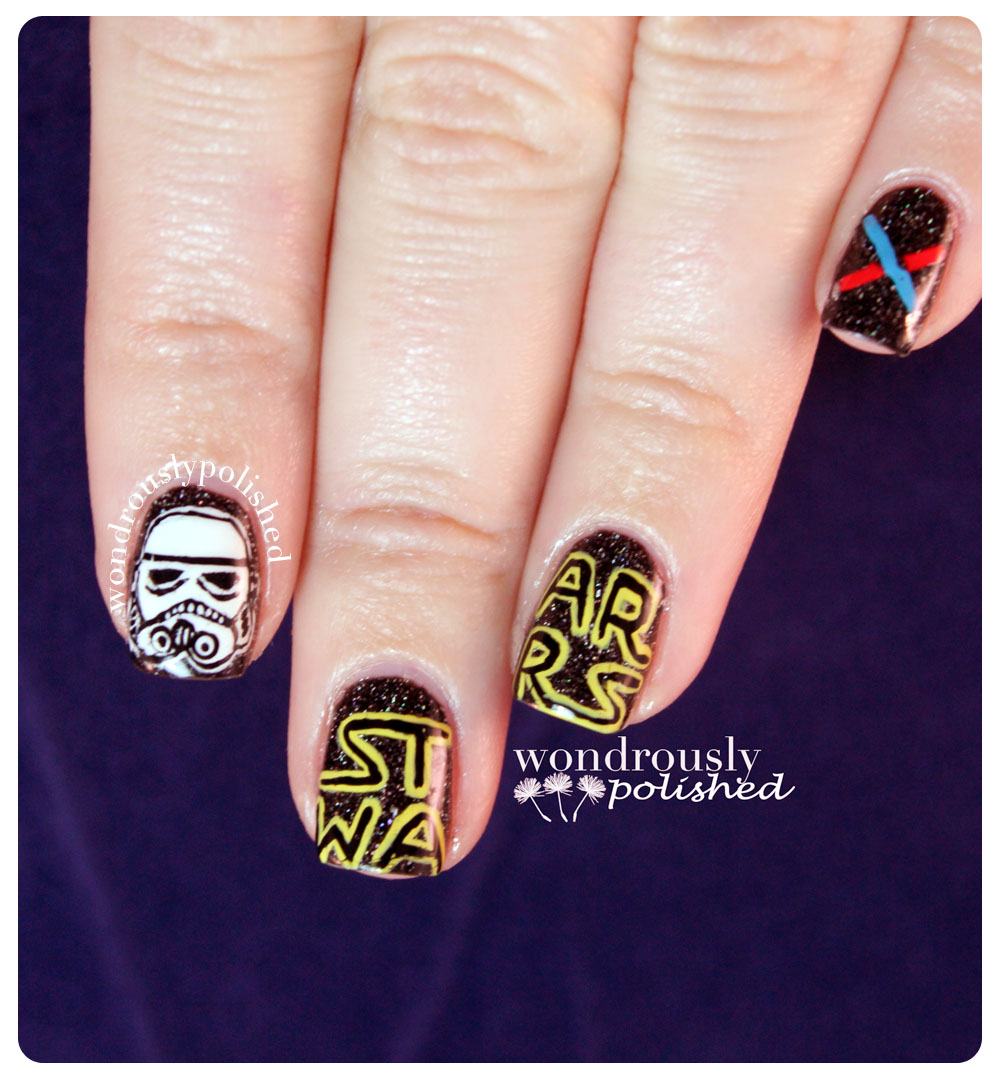 Wondrously Polished May Nail Art Challenge Star Wars