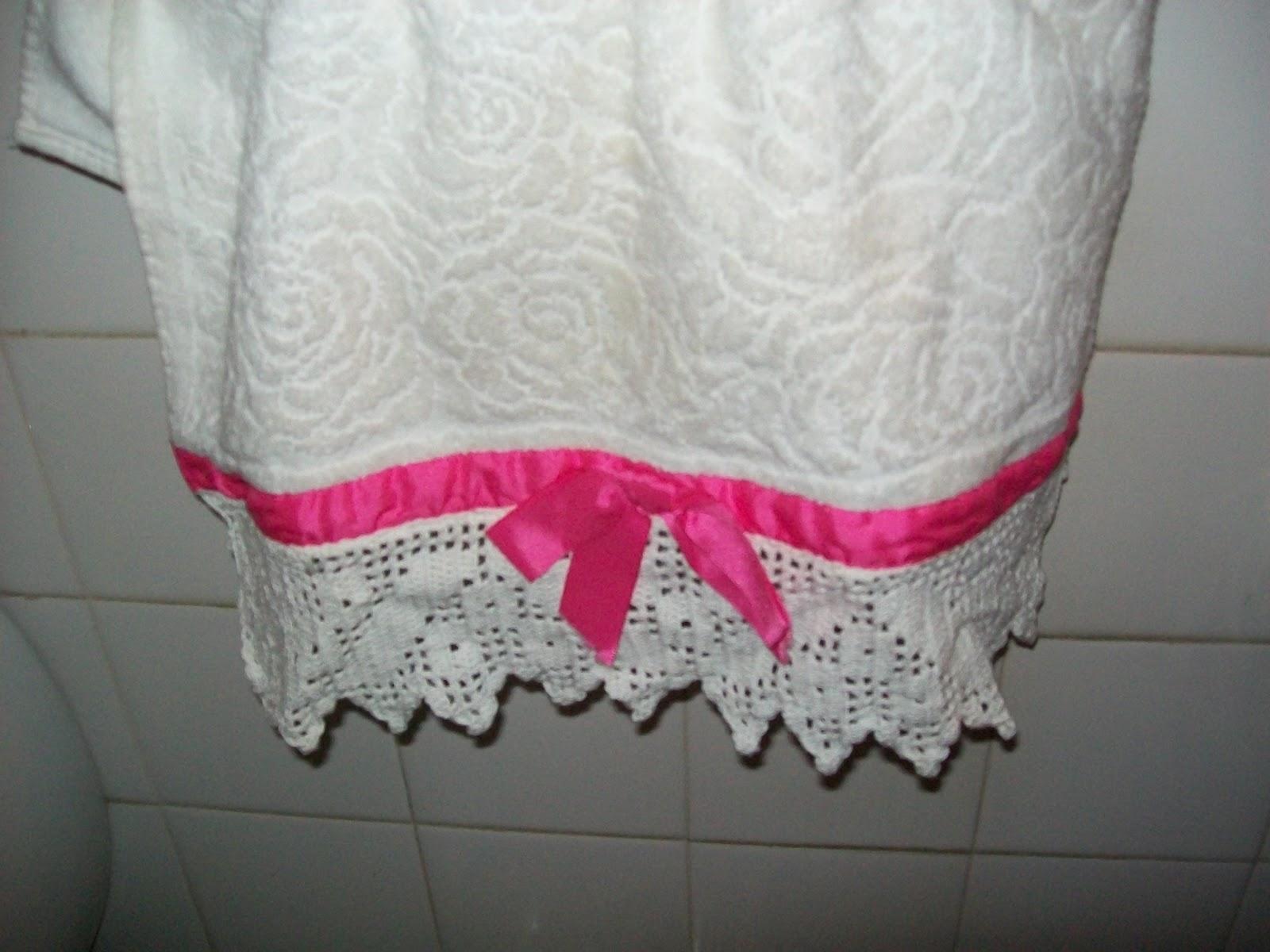 Decoracion De Baños Tejidos A Crochet: de puntilla tejida al crochet con hilo macramé o de algodón Quedan
