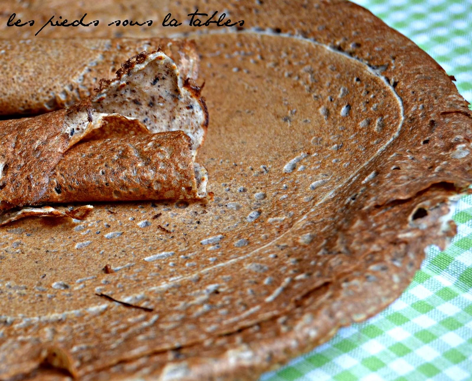 crêpes ou Galettes à la farine de sarrasin