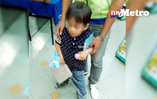 Budak 5 tahun ditinggal berseorangan di stesen minyak