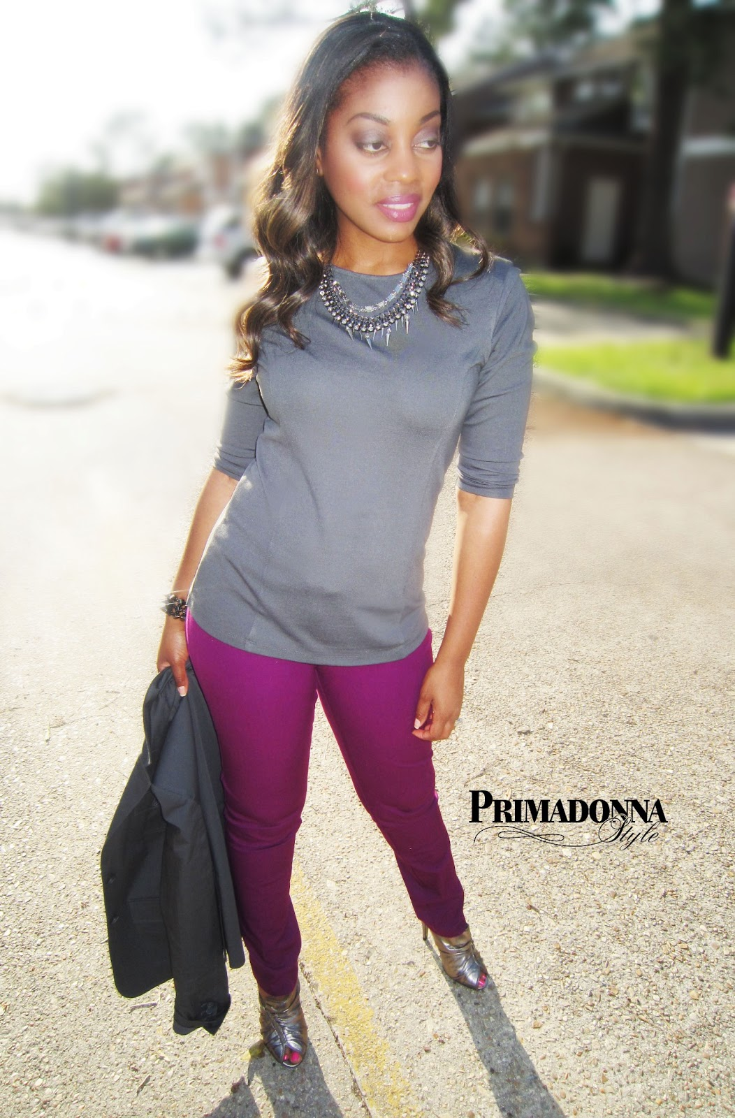 Primadonna Style: Work Week Chic: How to Wear Purple Pants