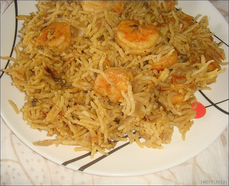 coming to this prawn biryani i opted to make this