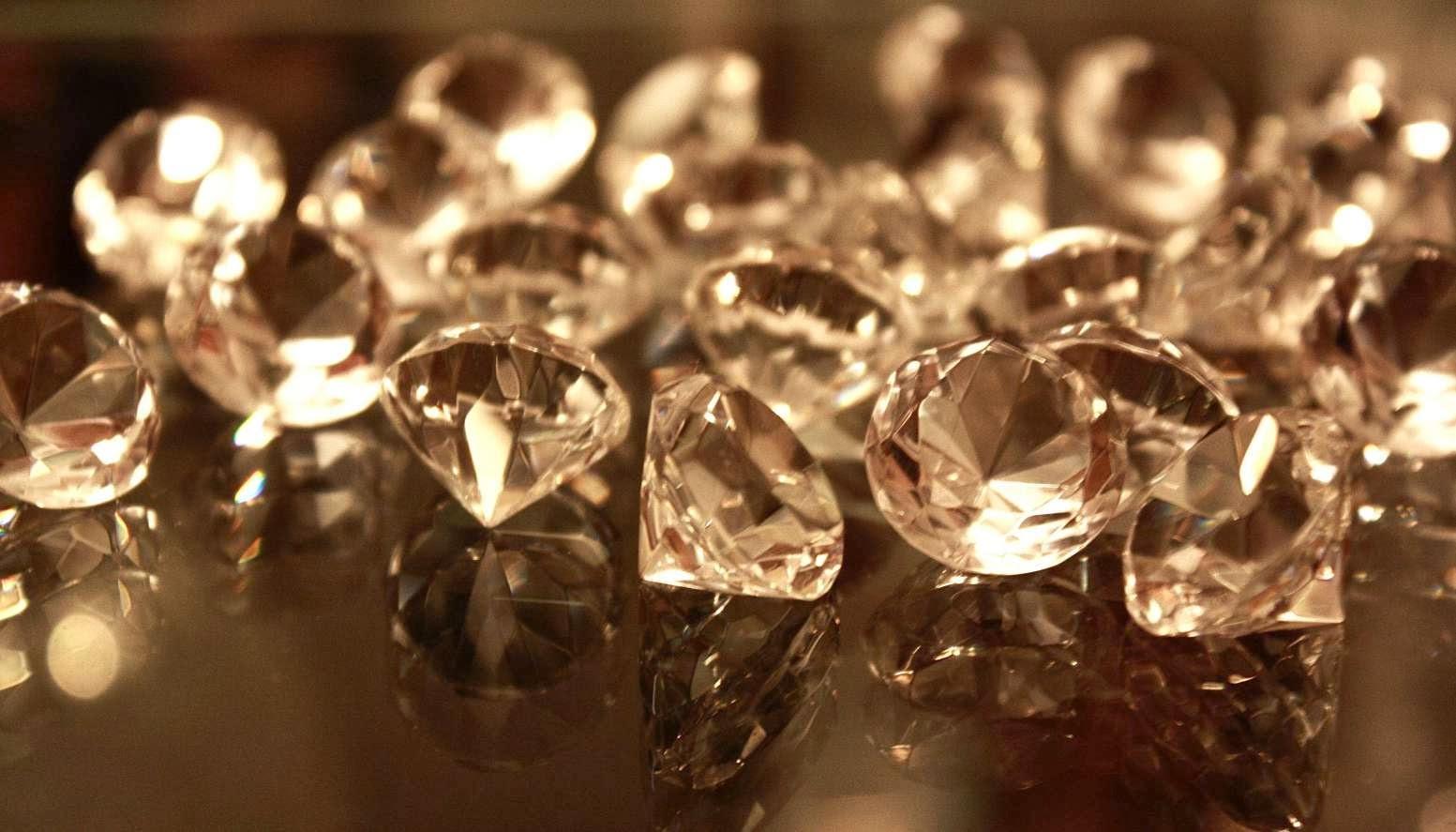 Cristales de diamantes