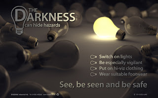 Darkness safety posters