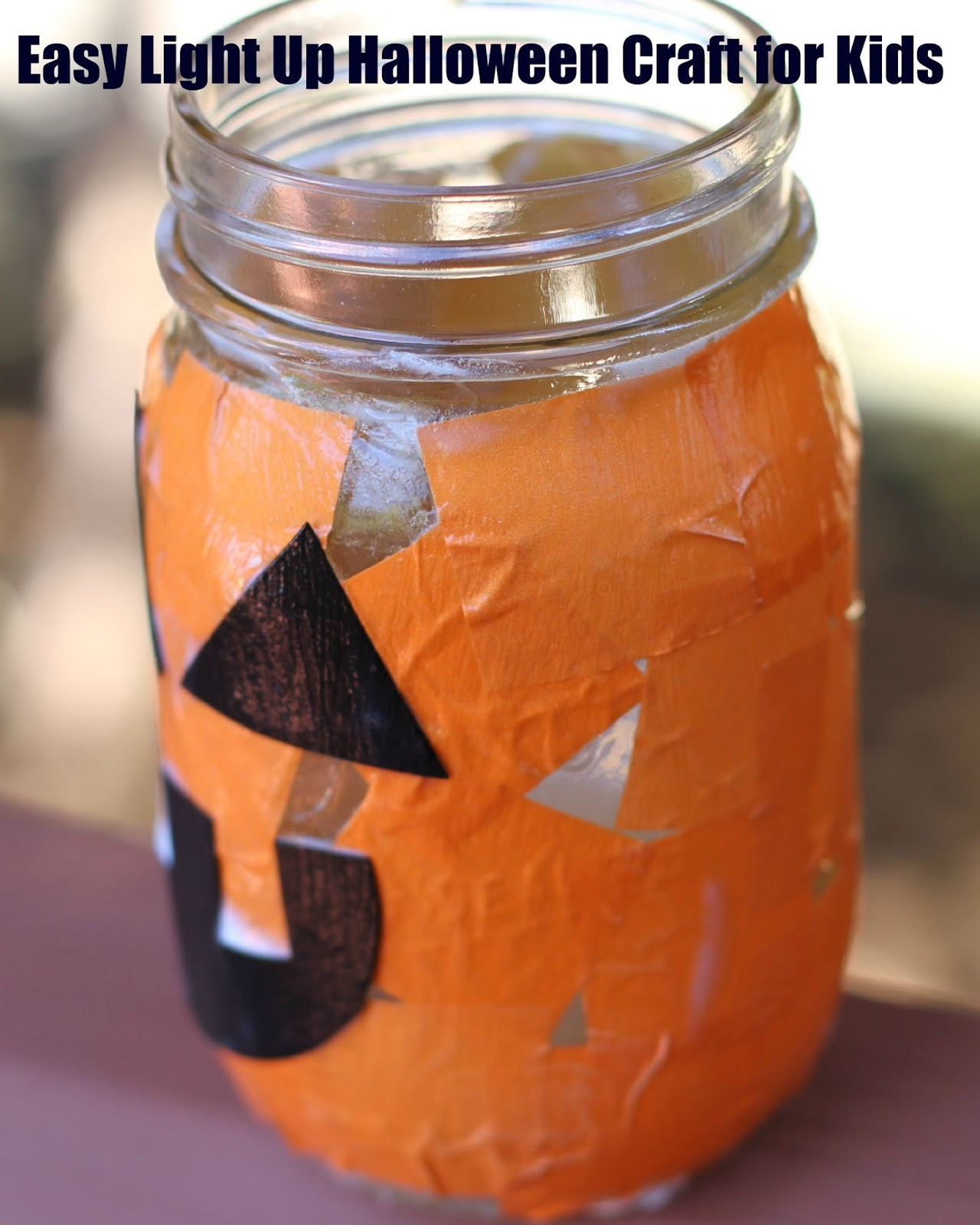 easy light up jack o lantern mason jar