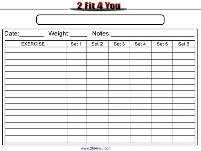 Printable Workout Logs | New Calendar Template Site