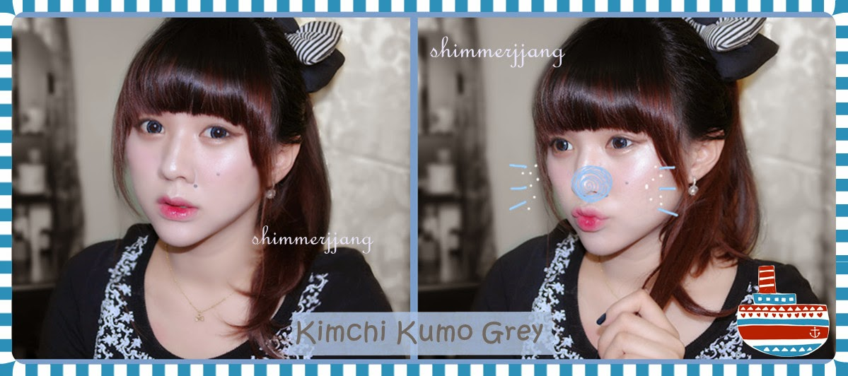 Rock your Looks with Kimchi Kumo Grey Circle Lenses