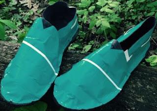 diy Cara Membuat Sepatu dari Karet / Ban Bekas dan Isolasi Lakban