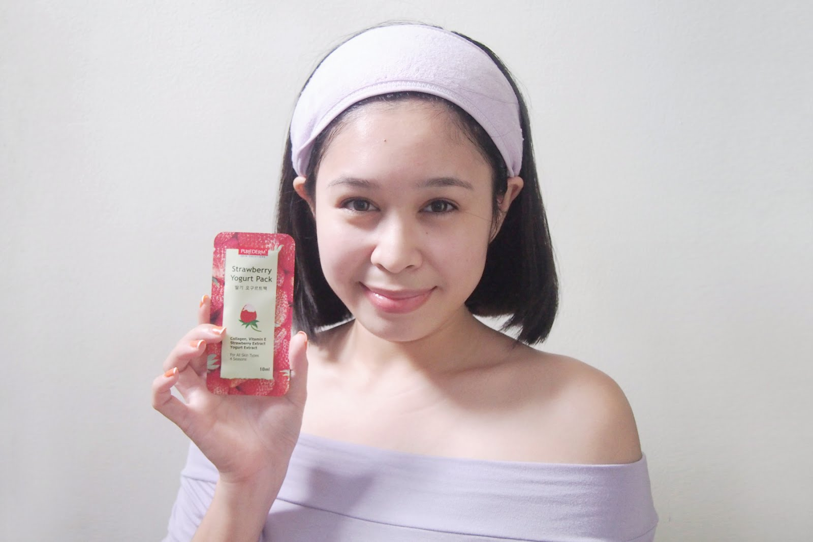 Purederm Strawberry Mask Yogurt Pack Theres More To Mica Eye Ive Just Readied Cleansed My Face For This Awesome Product People Have Given Good Reviews