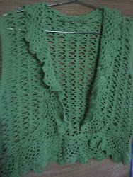 COLETE DE CROCHE VERDE CHICLE