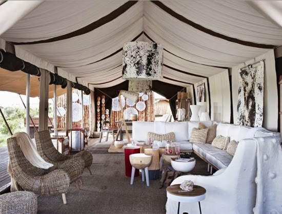Safari Fusion blog | Whitewash | Safari chic on the East African savannah at Singita Mara River Tented Camp, Kenya