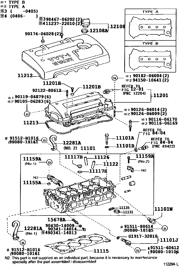 Corolla Diy  2006 Toyota Corolla Sedan   Hatchback 1zzfe Cylinder Head Exploded Diagram