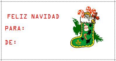 tarjetas de navidad para regalo c c