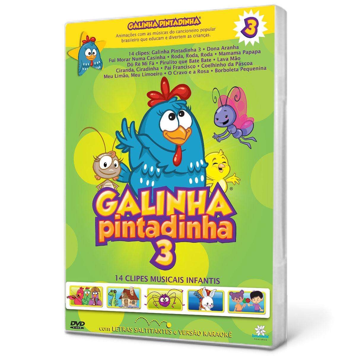 DVD CD A Galinha Pintadinha 3   Galinha pintadinha e sua turma