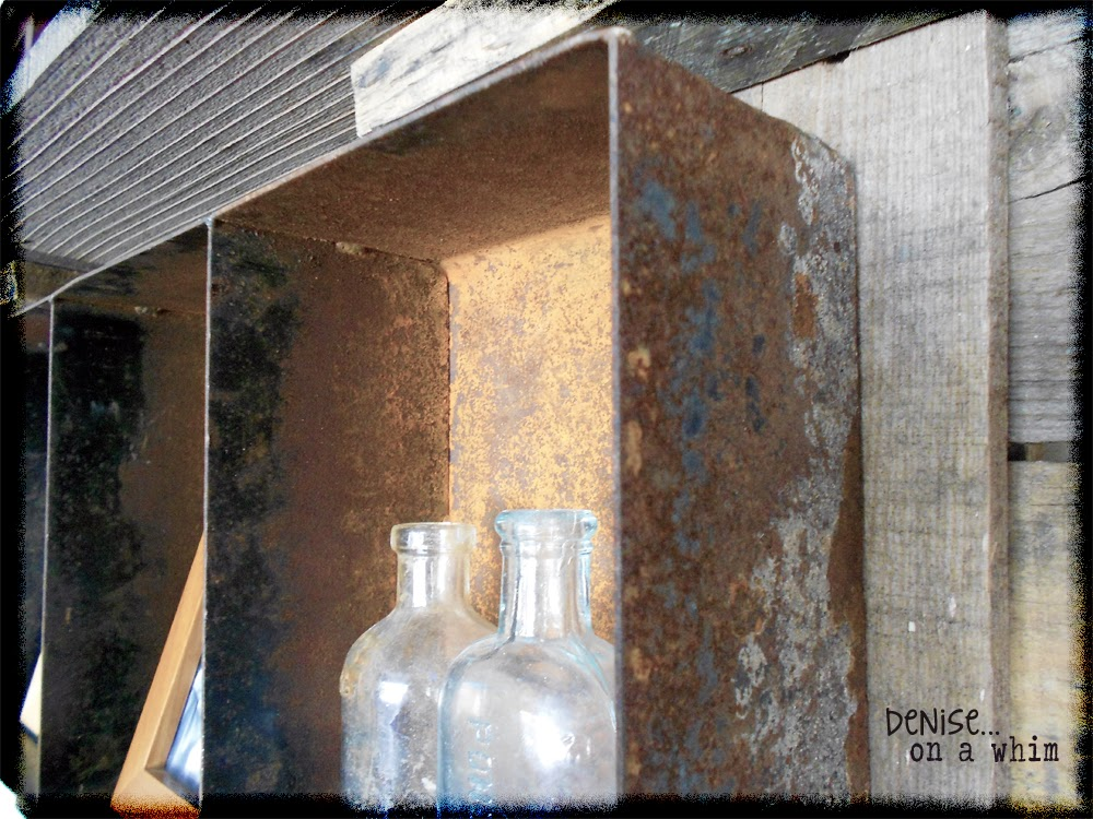 Rust, rust and more rust! A metal shelf project via http://deniseonawhim.blogspot.com