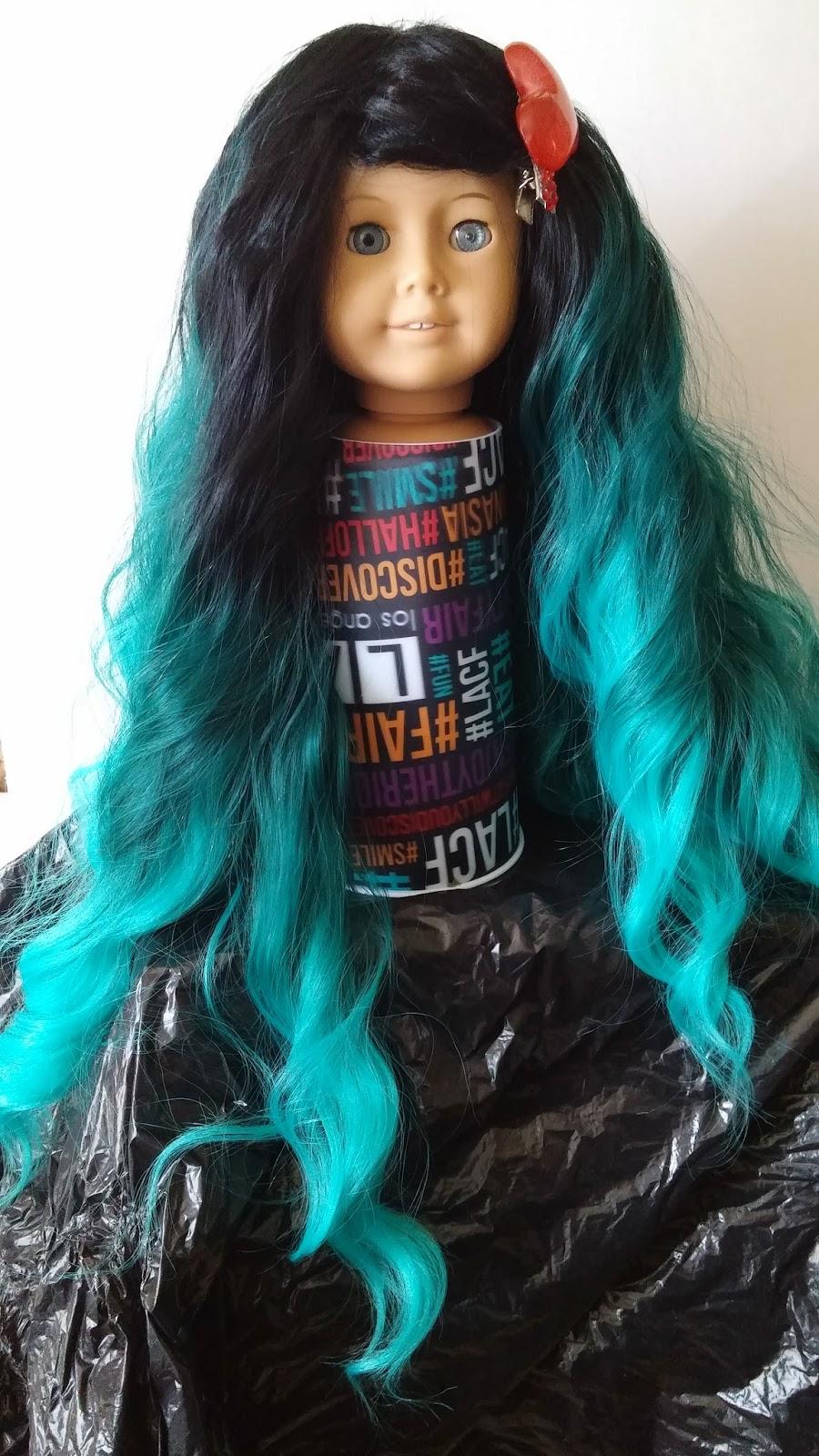 Aqua Mermaid Wig For American Girl Dolls